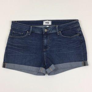 Paige Jimmy Jimmy Cuffed Shorts-Size 29